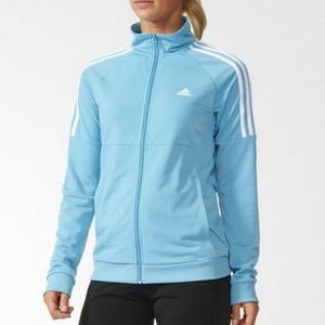 Adidas Blue Freida Track Suit Zip Up Jacket Size M